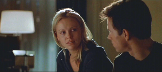 Charlize Theron (height 5'9.5'') and Mark Wahlberg (height 5'8'') in The Italian Job (2003).