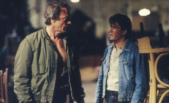 He with Charlie Sheen in The Rookie (1990). Eastwood's height is 6'2''.