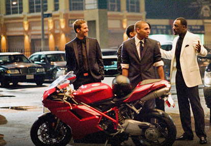 Paul Walker with Chris Brown in Takers (2010). Paul Walker's height is 6'2''.