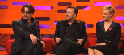 Carey Mulligan (height 5'7'')  with Johnny Depp, Ricky Gervais in The Graham Norton Show (2011)