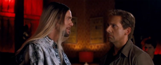 Jim Carrey (height 6'2'') and Steve Carell (height 5'9'') in The Incredible Burt Wonderstone (2013)