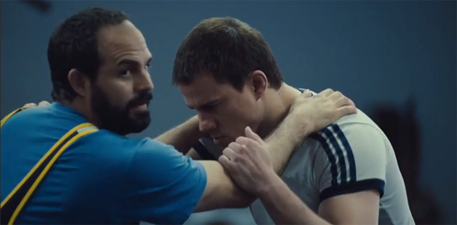 Mark Ruffalo (height 5'8'') with Channing Tatum (height 6'1'') in Foxcatcher (2014)