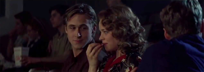 Rachel McAdams (height 5'4'') with Ryan Gosling (height 6'0'') in The Notebook (2004)