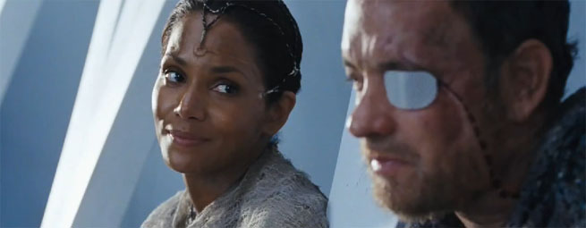 Tom Hanks (height 5'10'') with Halle Berry in Cloud Atlas (2012)