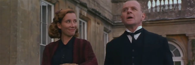 Anthony Hopkins with Emma Thompson in The Remains of the Day (1993)