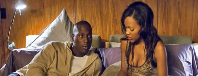 Tyrese (height 5'11) with Meagan Good in Waist Deep (2006)