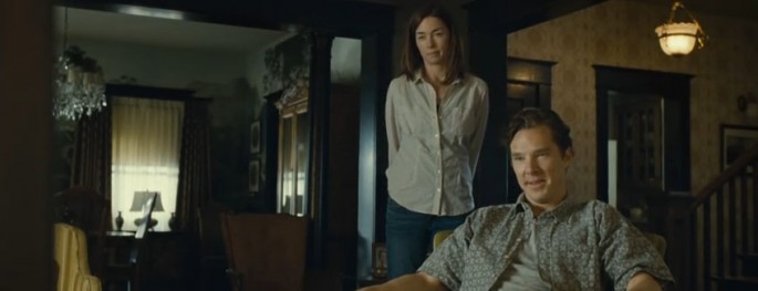 Benedict Cumberbatch (6'0'') with Julianne Nicholson in August: Osage County (2013)