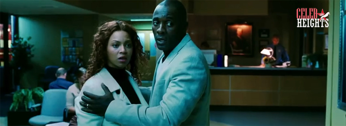 Idris Elba (height 6'3'') with Beyonce in Obsessed (2009)