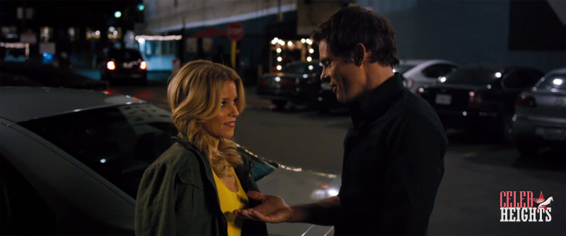 James Marsden (height 5'10'') with Elizabeth Banks (height 5'4.5'') in Walk of Shame (2014)
