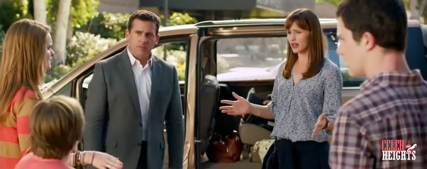 Jennifer Garner (height 5'8'') with Steve Carell (height 5'9'') in Alexander and the Terrible, Horrible, No Good, Very Bad Day (2014)