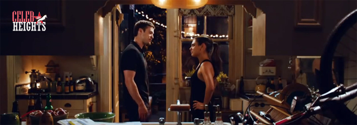 Mila Kunis (height 5'4'') with Justin Timberlake (height 6'1'') in Friends with Benefits (2011)