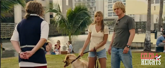 Owen Wilson (height 5'10.5'') with Jennifer Aniston (height 5'4.5'') in Marley & Me (2008)