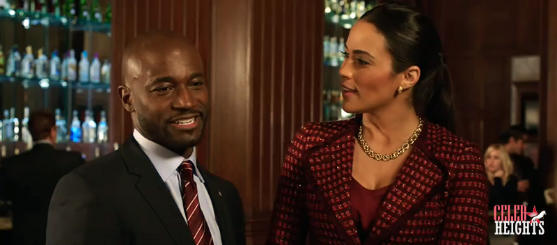 Paula Patton (height 5'7.5'') with Taye Diggs (height 5'10'') in Baggage Claim (2013)