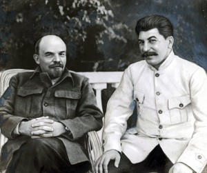 Joseph Stalin (height 5'8'') with Vladimir Lenin (height 5'5'')