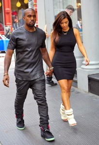 Kanye West with Kim Kardashian Height